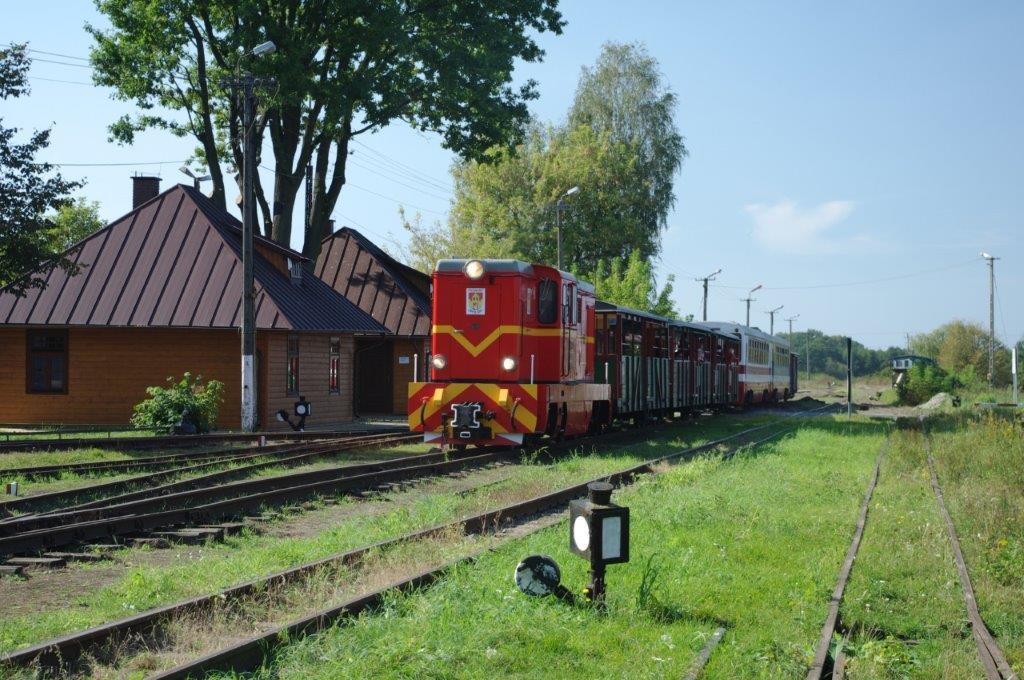 Stacja Nadwiślańskiej Kolejki Wąskotorowej w Karczmiskach